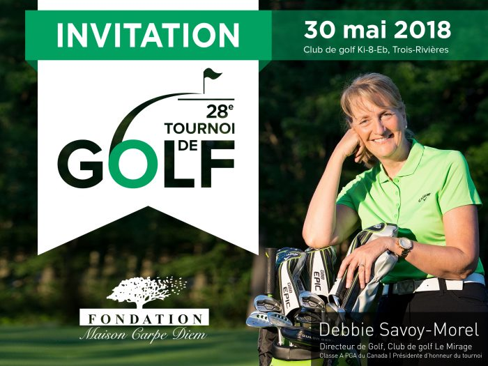 28e tournoi de golf de la Fondation Maison Carpe Diem