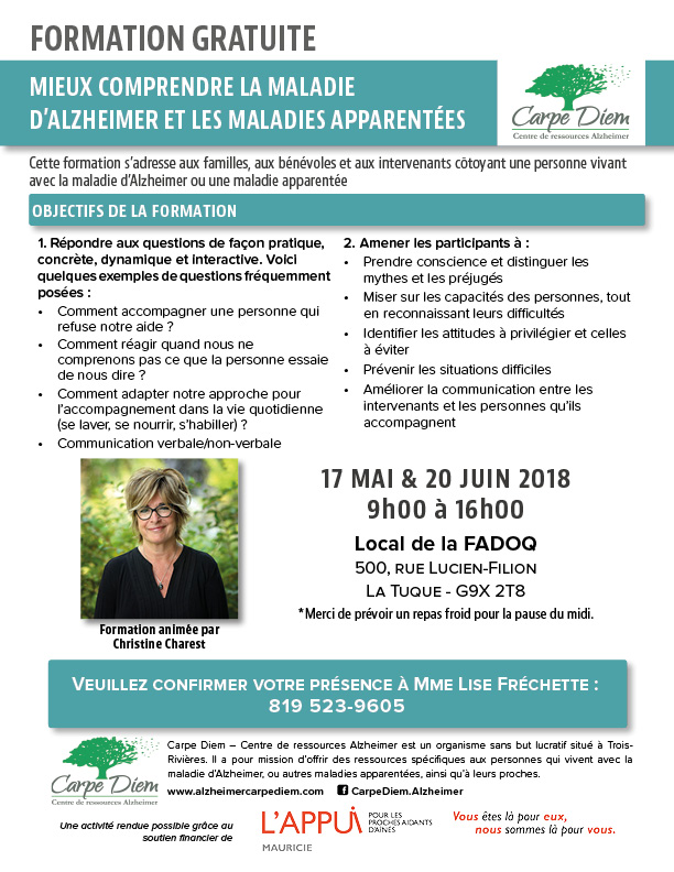 Formation Alzheimer - La Tuque