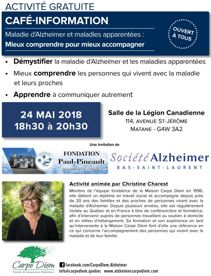 Café-information Carpe Diem - Matane 24 mai