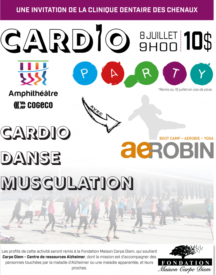 cardio party 8 juillet 2018 Carpe Diem