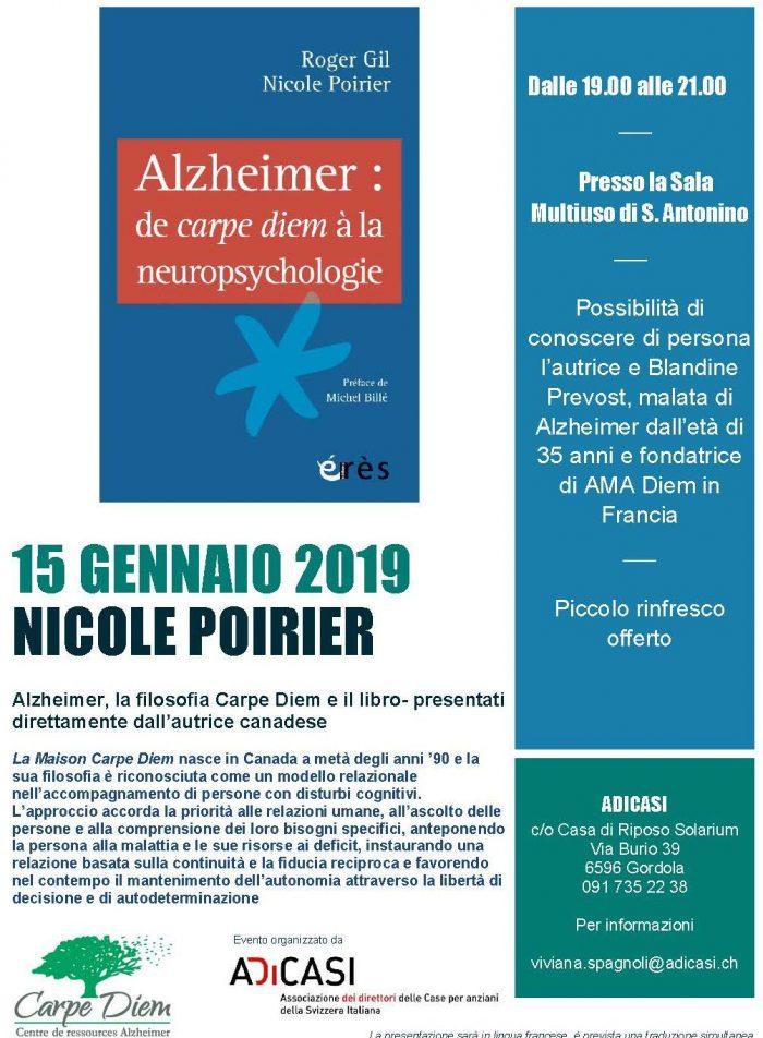presentation livre nicole poirier 15 janvier 2019-Suisse
