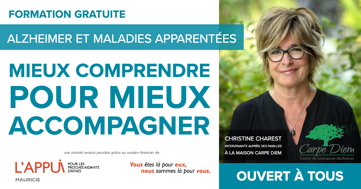 Alzheimer Formation gratuite 4 mars 2019 - CAB Grand-Mere_FB